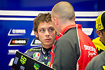 The rider Valentino Rossi in the box during the MotoGP Grand Prix Itala in Mugello, Florence. 30/05/2014. Samuel de Roman/Photocall3000.