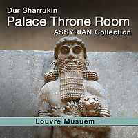 Assyrian Korsabad Palace Throne Room Dur Sharrukin Relief Sculptures - Louvre - White