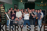 Joint Celebration: Aiden Carey,(engagement) and Pip O'Caroll,(40th Birthday) centre, celebration the occasion at The Kingdom Bar, Listowel on Saturday night last.