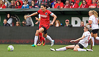 Portland, OR - Sunday Oct. 02, 2016: Christine Sinclair, Alanna Kennedy during a National Women's Soccer League (NWSL) semi-finals match between the Portland Thorns FC and the Western New York Flash at Providence Park.