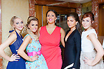 Niomi Murphy Killorglin, Rebecca O'Sullivan Tralee, Christine Leahy Tralee, Ruzena Kristofova Killarney and Nikki Reidy Killorglin at the Miss Kerry selection in the Plaza Hotel Killarney on Saturday night