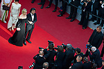 70eme Festival International du Film de Cannes. Montee de la ceremonie de cloture, vues du toit du Palais . 70th International Cannes Film Festival. Vew from rof top of closing red carpet<br />  Kruger, Diane; Akin, Fatih