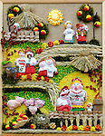 Stock photo of a Ukrainian souvenir Ukrainian people countryside scenic farm Vertical