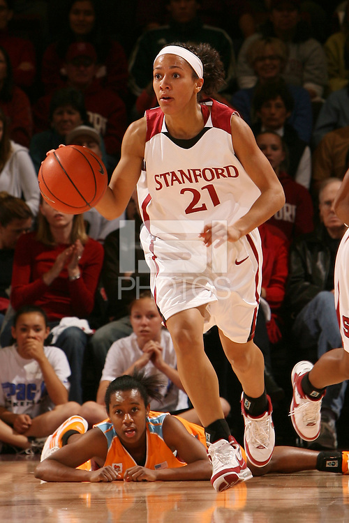 22 December 2007: Rosalyn Gold-Onwude during Stanford's 73-69 win over Tennessee at Maples Pavilion in Stanford, CA.