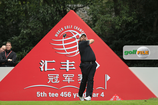 Shane Lowry (IRL) on the 5th tee during the final round of the WGC-HSBC Champions, Sheshan International GC, Shanghai, China PR.  30/10/2016<br /> Picture: Golffile | Fran Caffrey<br /> <br /> <br /> All photo usage must carry mandatory copyright credit (&copy; Golffile | Fran Caffrey)