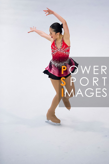 Emee Marjorie Dy competes during the Asian Junior Figure Skating Challenge 2015 on October 07, 2015 at the Festival Walk Mall in Hong Kong, China. Photo by Aitor Alcalde/ Power Sport Images