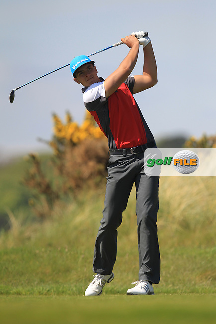 Maximilian Boegel (GER) on the 8th tee during Round 4 of the Flogas Irish Amateur Open Championship at Royal Dublin on Sunday 8th May 2016.<br /> Picture:  Golffile / Thos Caffrey