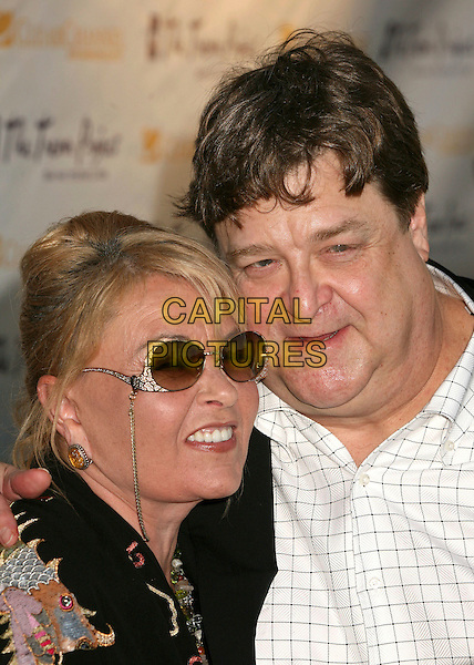 "ROSANNE BARR & JOHN GOODMAN.The Trevor Project's Cracked Xmas 9 ""Mistletoe, Mischief & Myrrh!"" at the Wiltern LG, Los Angeles, California, USA, 03 December 2006..portrait headshot sunglasses.CAP/ADM/BP.©Byron Purvis/AdMedia/Capital Pictures."