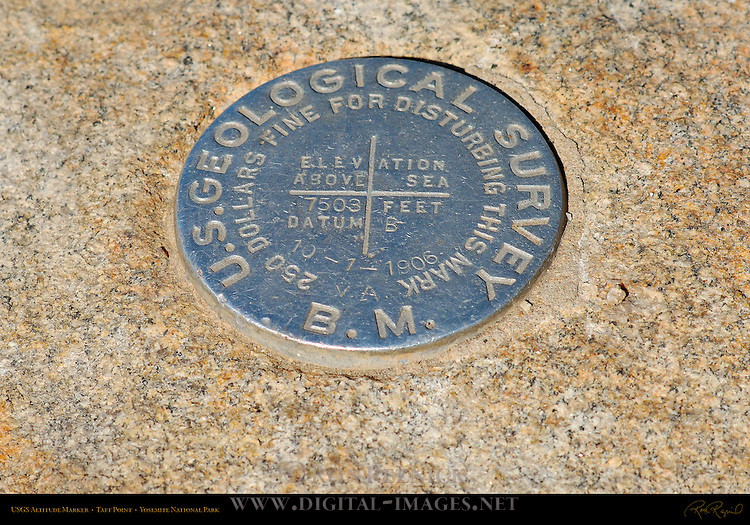 US Geological Survey Marker, Taft Point, Yosemite National Park