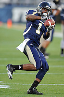 4 December 2010:  FIU wide receiver Willis Wright (1) pulls in a reception during pre-game warm-ups.  The Middle Tennessee State University Blue Raiders defeated the FIU Golden Panthers, 28-27, at FIU Stadium in Miami, Florida.