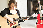 "02/26/13--Singer-songwriter Hannah Beth  Dedlow, sings a song on her first album she  just released, ""Just a Dream,"" at her parents home in Tualatin...Photo by Jaime Valdez...."