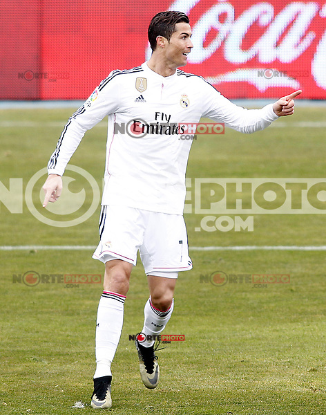 Real Madrid's Cristiano Ronaldo celebrates goal during La Liga match.January 18,2013. (ALTERPHOTOS/Acero) /NortePhoto<br /> NortePhoto.com