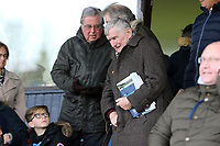 Former Spurs and Luyon manager David Pleat takes his seat before Southend United vs Bristol Rovers, Sky Bet EFL League 1 Football at Roots Hall on 7th March 2020