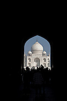 Agra, India.  Taj Mahal, First View.