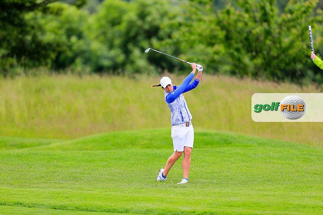 Maria Dunne during Sunday Singles matches at the 2016 Curtis cup from Dun Laoghaire Golf Club, Ballyman Rd, Enniskerry, Co. Wicklow, Ireland. 12/06/2016.<br /> Picture Fran Caffrey / Golffile.ie<br /> <br /> All photo usage must carry mandatory copyright credit (&copy; Golffile | Fran Caffrey)