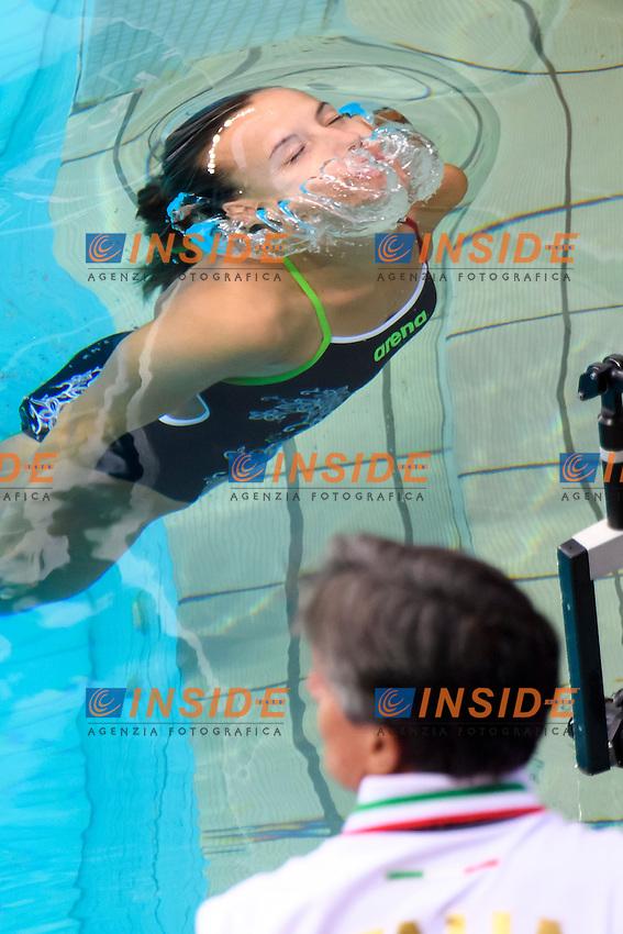 CAGNOTTO Tania  Italia Silver Medal Giorgio Cagnotto <br /> Rio de Janeiro 07-08-2016 Maria Lenka Aquatics Center  <br /> Diving Women's Synchronised 3m Springboard<br /> Tuffi Trampolino Sincronizzato 3m Sincro <br /> Foto Andrea Staccioli / Deepbluemedia /Insidefoto