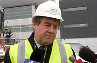 James Cherry, Director , Aeroport de Montreal (ADM) visit the site the construction The new international jetty construction site at Montréal-<br />