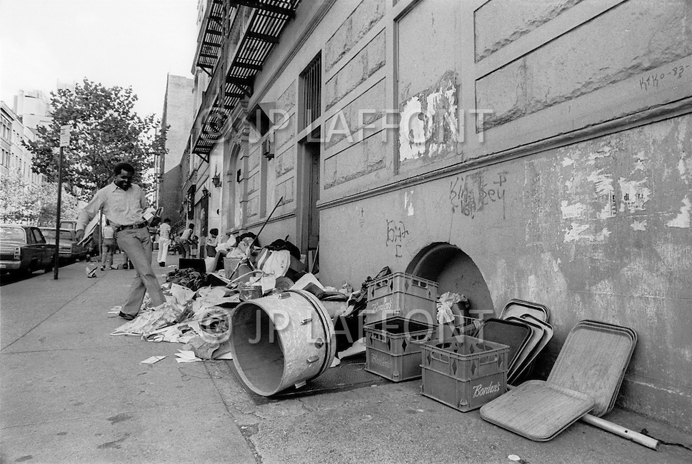 New York City, October 1975. Upper Manhattan. Economic depression in NYC.