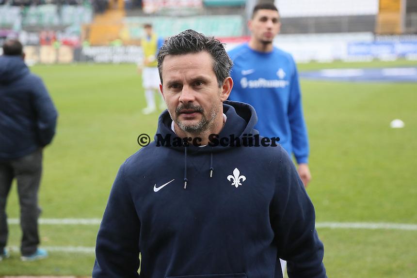 Trainer Dirk Schuster (SV 98) - SV Darmstadt 98 vs. SpVgg. Greuther Fuerth, Stadion am Boellenfalltor
