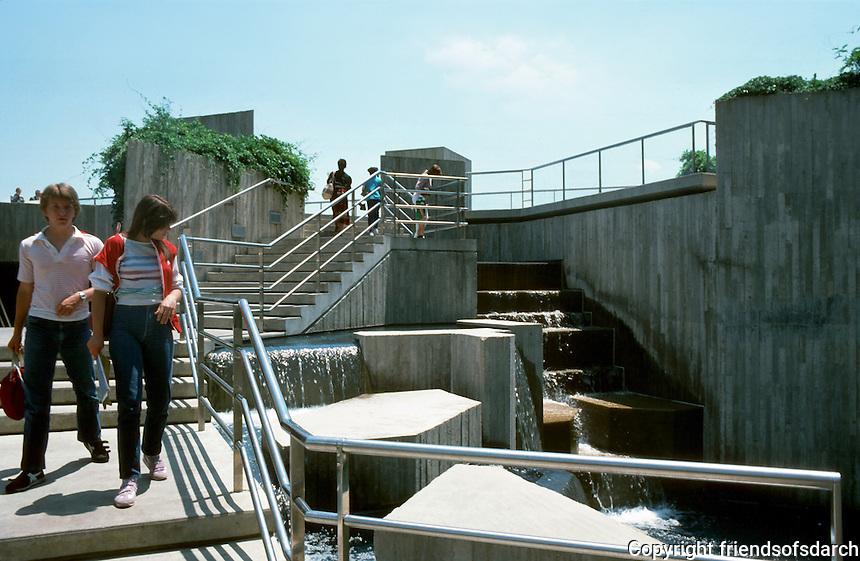 Baltimore:  #2.  Inner Harbor--General Sam Smith Park, corner of Pratt & Light Streets. Photo '85.