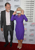 LOS ANGELES, CA. November 11, 2016: Actress Dame Helen Mirren &amp; husband director Taylor Hackford at premiere of &quot;The Comedian&quot;, part of the AFI Fest 2016, at the Egyptian Theatre, Hollywood.<br /> Picture: Paul Smith/Featureflash/SilverHub 0208 004 5359/ 07711 972644 Editors@silverhubmedia.com