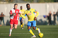 Haringey club captain David Tosin Olufemi during Haringey Borough vs Poole Town, Emirates FA Cup Football at Coles Park Stadium on 20th October 2018