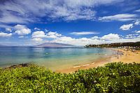 Wailea Beach, Maui with the West Maui Mountains in the distance.