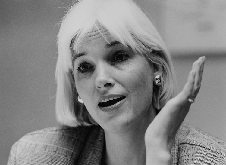 Close-up of Candidate Maggie Lauterer, D-N.C., in April 1994. (Photo by Laura Patterson/CQ Roll Call via Getty Images)