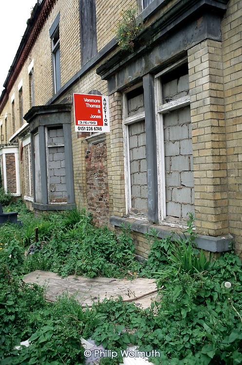 Derelict empty property for sale in Liverpool 8.