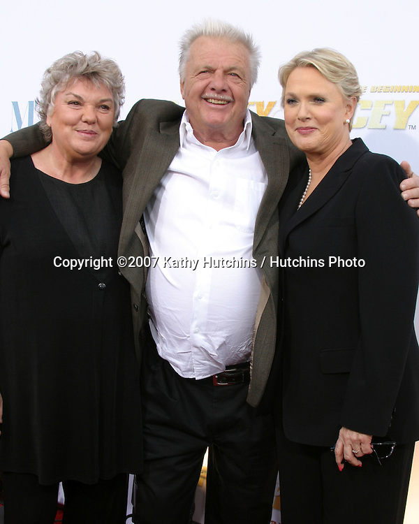 Tyne Daly, John Karlen, & Sharon Gless.Cagney & Lacey DVD Launch Event.Museum of Television & Radio.Beverly Hills, California USA.April 30, 2007 .©2007 Kathy Hutchins / Hutchins Photo....
