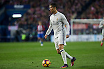 Real Madrid's Cristiano Ronaldo  during the match of La Liga between Atletico de Madrid and Real Madrid at Vicente Calderon Stadium  in Madrid , Spain. November 19, 2016. (ALTERPHOTOS/Rodrigo Jimenez)