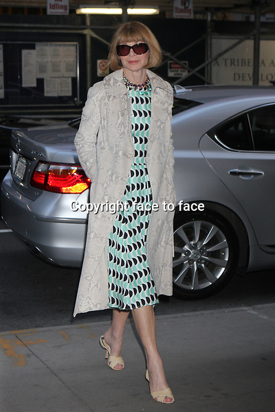 "Anna Wintour arriving at a screening of ""Mud"" at The Museum of Modern Art in New York, 22.04.2013. ..Credit: Rolf Mueller/face to face"
