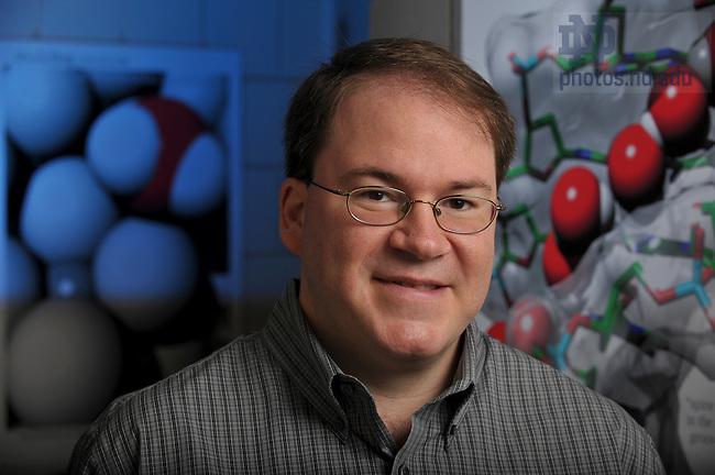 Steven A Corcelli, Assistant Professor, Chemistry and Biochemistry ..Photo by Matt Cashore/University of Notre Dame