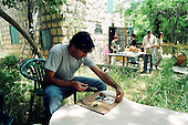 Teachers making photograms in the garden of the Silver Print Gallery at Ein Hod, Israel