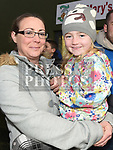 Joanne and Lily Gregory at the Anthony Doonan memorial match in Donore. Photo:Colin Bell/pressphotos.ie