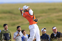 Sergio Garcia (ESP) tees off the 15th tee during Thursday's Round 1 of the 145th Open Championship held at Royal Troon Golf Club, Troon, Ayreshire, Scotland. 14th July 2016.<br /> Picture: Eoin Clarke | Golffile<br /> <br /> <br /> All photos usage must carry mandatory copyright credit (&copy; Golffile | Eoin Clarke)