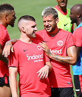 Ante Rebic (Eintracht Frankfurt) hat Spass mit Marco Russ (Eintracht Frankfurt) - 08.08.2018: Eintracht Frankfurt Training, Commerzbank Arena<br /> <br /> DISCLAIMER: <br /> DFL regulations prohibit any use of photographs as image sequences and/or quasi-video.