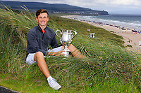 Aaron Edwards-Hill (Chelmsford) winner of the North of Ireland Amateur Championship, Portstewart Golf Club, Portstewart, Antrim,  Ireland. 12/07/2019<br />
