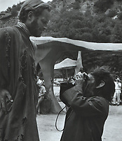Planet of the Apes (1968) <br /> Behind the scenes photo of Charlton Heston<br /> *Filmstill - Editorial Use Only*<br /> CAP/KFS<br /> Image supplied by Capital Pictures