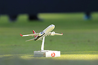 Tee marker on the 10th tee during Saturday's Round 3 of the 2018 Turkish Airlines Open hosted by Regnum Carya Golf &amp; Spa Resort, Antalya, Turkey. 3rd November 2018.<br /> Picture: Eoin Clarke | Golffile<br /> <br /> <br /> All photos usage must carry mandatory copyright credit (&copy; Golffile | Eoin Clarke)