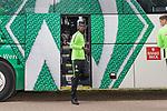 17.05.2018, Stadion am Auetal, Ahlerstedt, GER, FSP, Auswahl Ahlerstedt / Ottendorf vs SV Werder Bremen<br /> <br /> im Bild<br /> Idrissa Tour&eacute; / Toure (SV Werder Bremen II #27) steigt aus dem Mannschaftsbus aus, <br /> <br /> Foto &copy; nordphoto / Ewert