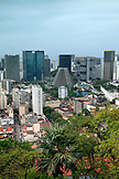 BRAZIL, Rio de Janiero, view of downtown Rio from the Parque Das Ruinas