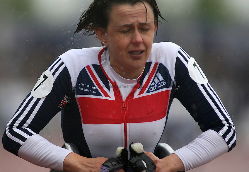 Photo: Paul Thomas..VISA Paralympic World Cup 2007. Athletics. 13/05/2007...Dame Tanni Grey-Thompson of Great Britain after her last race before retirement.