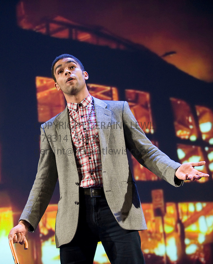 The Riots directed by Nicolas Kent. With  Kingsley Ben Adir as Martin Sylvester Brown  . Opens at The Tricycle Theatre  on 22/11/11  . CREDIT Geraint Lewis