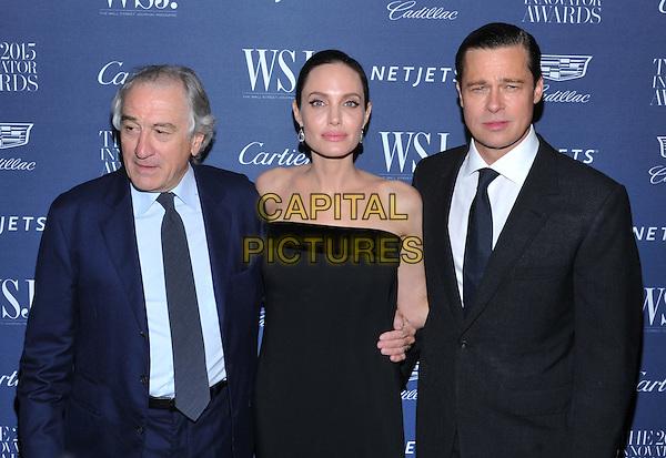 New York,NY-November 4: Robert De Niro, Angelina Jolie Pitt, Brad Pitt attend the WSJ. Magazine 2015 Innovator Awards at the Museum of Modern Art on November 4, 2015 in New York City. <br /> CAP/MPI/STV<br /> &copy;STV/MPI/Capital Pictures