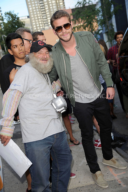 WWW.ACEPIXS.COM . . . . . <br /> August 6, 2013...New York City<br /> <br /> Liam Hemsworth leaves a taping of an appearance on The Daily Show with Jon Stewart on August 6, 2013 in New York City. <br /> <br /> Please byline: Kristin Callahan<br /> <br /> ACEPIXS.COM.. . . . . . ..Ace Pictures, Inc: ..tel: (212) 243 8787 or (646) 769 0430..e-mail: info@acepixs.com..web: http://www.acepixs.com