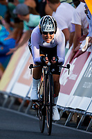 Commonwealth Games - Road Cycling: Time Trial - Currumbin Beachfront, Gold Coast, Australia - Linda Villumsen of New Zealand wins Silver in the Women's Individual Time Trial. 10 April 2018. Picture by Alex Whitehead / www.photosport.nz
