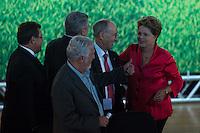 SAO PAULO, SP, 10.02.2014 - ANIVERSARIO PT / 34 ANOS - A presidente Dilma Rousseff (D) durante cerimonia de comemoração dos 34 anos do Partido dos Trabalhadores no Grande Auditorio do Centro de Convencoes do Anhembi na regiao norte de Sao Paulo, nesta segunda-feira, 10. (Foto: Vanessa Carvalho / Brazil Photo Press).