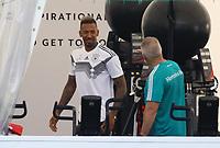 Jerome Boateng (Deutschland Germany) im Einzeltraining im Fitnesszelt - 28.05.2018: Training der Deutschen Nationalmannschaft zur WM-Vorbereitung in der Sportzone Rungg in Eppan/Südtirol