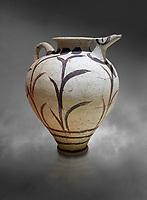 Minoan clay polychrome pithoid jar with reed decoration, Akrotiri, Thira (Santorini) National Archaeological Museum Athens.